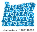 population oregon state map.... | Shutterstock .eps vector #1107140228