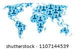 population world map.... | Shutterstock .eps vector #1107144539