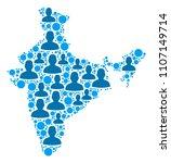 population india map.... | Shutterstock .eps vector #1107149714