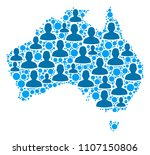 population australia map.... | Shutterstock .eps vector #1107150806