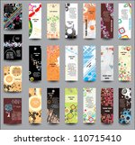 a set of flyers and banners | Shutterstock .eps vector #110715410