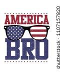 america bro glasses land of... | Shutterstock .eps vector #1107157820