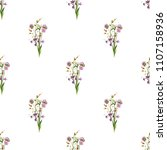 watercolof vintage pattern with ... | Shutterstock . vector #1107158936