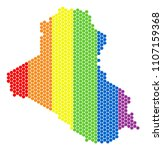 a dotted lgbt iraq map for... | Shutterstock .eps vector #1107159368