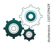 gears working symbol blue lines   Shutterstock .eps vector #1107159629