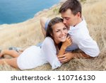 two lovers near the seashore | Shutterstock . vector #110716130