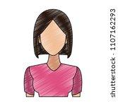 young woman cartoon scribble | Shutterstock .eps vector #1107162293