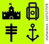 icon set of related house ... | Shutterstock .eps vector #1107177578