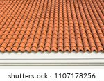 red corrugated tile element of... | Shutterstock . vector #1107178256