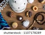 collection of eid el fitr kahk...   Shutterstock . vector #1107178289