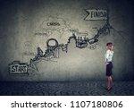 business career challenges... | Shutterstock . vector #1107180806
