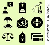 icon set of related commercial  ...
