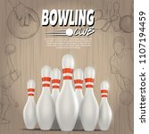 bowling club background.... | Shutterstock .eps vector #1107194459