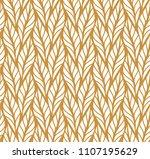 geometric leaves vector... | Shutterstock .eps vector #1107195629