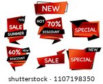 summer sale set isolated vector ... | Shutterstock .eps vector #1107198350