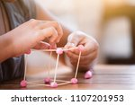 cute asian child girl playing... | Shutterstock . vector #1107201953