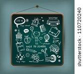 back to school illustration | Shutterstock .eps vector #110720240