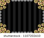 lace and rose frame   Shutterstock .eps vector #1107202610