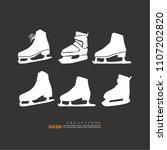 the skates icon. figure skates... | Shutterstock .eps vector #1107202820