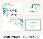 wedding card invitation... | Shutterstock .eps vector #1107205670