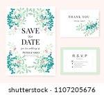 wedding card invitation... | Shutterstock .eps vector #1107205676