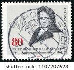 gdr   circa 1984  post stamp... | Shutterstock . vector #1107207623