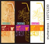 cocktails menu card design... | Shutterstock .eps vector #110721230