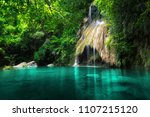 pha nam yod waterfall in... | Shutterstock . vector #1107215120