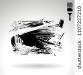 black brush stroke and texture. ... | Shutterstock .eps vector #1107227210