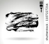 black brush stroke and texture. ...   Shutterstock .eps vector #1107227216