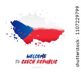 welcome to czech republic.... | Shutterstock .eps vector #1107229799