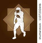 american football player ...   Shutterstock .eps vector #1107232646
