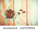 date palm fruit or kurma  ... | Shutterstock . vector #1107259034