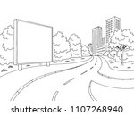street road graphic black white ... | Shutterstock .eps vector #1107268940