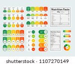 composed labels of nutritional... | Shutterstock .eps vector #1107270149