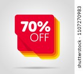 special offer sale red tag... | Shutterstock .eps vector #1107270983