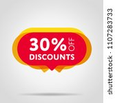 special offer sale red tag... | Shutterstock .eps vector #1107283733