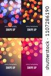 bokeh background  set of social ... | Shutterstock .eps vector #1107286190