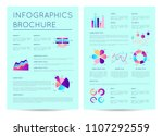 financial brochure with... | Shutterstock .eps vector #1107292559