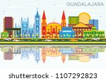 guadalajara mexico skyline with ... | Shutterstock . vector #1107292823