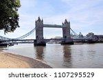 a view of tower bridge | Shutterstock . vector #1107295529