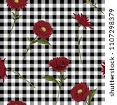 floral seamless pattern. red... | Shutterstock .eps vector #1107298379