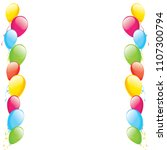 poster with balloons color... | Shutterstock .eps vector #1107300794