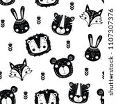 seamless pattern with cute... | Shutterstock .eps vector #1107307376