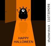 happy halloween. screaming...   Shutterstock .eps vector #1107309098