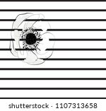 white flower  two stripes... | Shutterstock .eps vector #1107313658