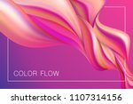 abstract colorful flow poster.... | Shutterstock .eps vector #1107314156