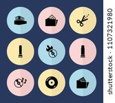 set of 9 copy filled icons such ... | Shutterstock .eps vector #1107321980