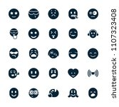 emotion icon. collection of 25... | Shutterstock .eps vector #1107323408