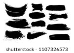 vector ink splashes or black... | Shutterstock .eps vector #1107326573